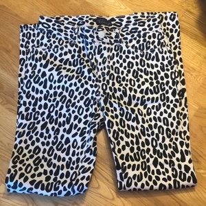 Girls size 10 leopard print jeggings